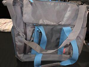 Skip Hop Fit All Access Large Diaper/Changing Tote Bag (Graphite Aqua)