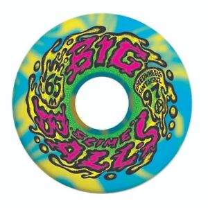 Santa Cruz SLIME BALLS BIG BALLS Skateboard Wheels 65mm 97a BLUE/YELLOW SWIRL
