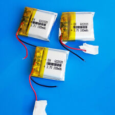 3 pcs 3.7V 180mAh LiPo Rechargeable Battery for MP3 MP4 Headset Bluetooth 602020