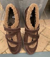 Stuart Weitzman  Brown Leather Suede Monk Shoes Size UK7 USA 9.5M