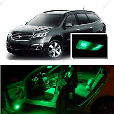 For Chevy Traverse 2009-2016 Green LED Interior Kit + Green License Light LED