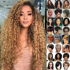 Women's Ombre Natural Long / Short Curly Full Wig Hair Afro Wavy Cosplay Wigs