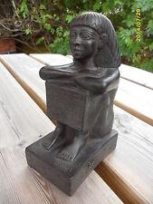 "Egyptian ""Block Statue"" Funerary Temple Figurine Made In Egypt Pharaoh King Tut"