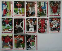 2019 Topps Update Los Angeles Angels Base Team Set of 13 Baseball Cards