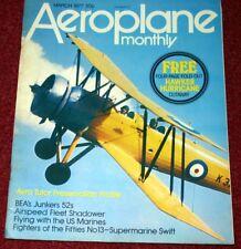 Aeroplane Monthly Magazine 1977 March Supermarine Swift,Ryan STA,BEA Ju52