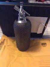 vintage Sparklets Mesh Metal Seltzer Bottle