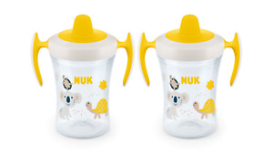NUK Evolution Soft Spout Learner Cup 8 oz, yellow pink blue baby boy girl