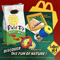 MCDONALD'S VINTAGE 1993 FIELD TRIP COMPLETE SET OF 4 - HAPPY MEAL TOYS MIP!