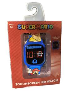 NEW Super Mario Nintendo LED Touchscreen Kids Watch Boys