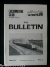 LCGB - LOCOMOTIVE CLUB OF GREAT BRITAIN BULLETIN - MARCH 18 1992