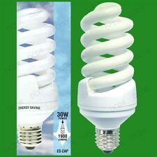 8x 30W (=150W) Daylight 6400K SAD White Light Bulbs Low Energy CFL ES E27 Lamps