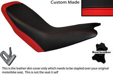 BRIGHT RED & BLACK CUSTOM FITS APRILIA ETX 125 DUAL LEATHER SEAT COVER ONLY