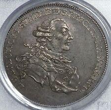 Schwarzberg-Rudolstadt 1780 Crown Prince Marriage Silver Thaler PCGS XF45