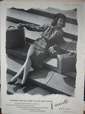 1945 For Beauty Duty Smart College Girls Choose Vanette Hosiery Stockings Ad