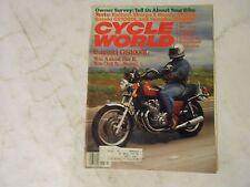JULY 1979 CYCLE WORLD MAGAZINE,SUZUKI GS1000L COVER,BULTACO SHERPA,HONDA XR250,