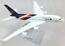 Thai Airbus A380 Airline 16cm Metal Model Plane Aeroplane Thailand Toy Airlines