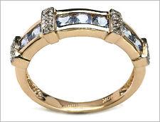 Exquisite Solid 10kt Gold Tanzanite & Diamond Gemstone Ring Size 7.25    TR33