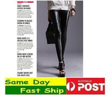Black Faux Leather Matte Shiny Leggings Fast Ship from Melbourne