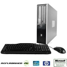 CLEARANCE!!! Fast HP Desktop Computer PC Core 2 Duo WINDOWS 10 Keyboard Mouse