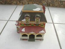 christmas village building house with full front porch area chimney walmart