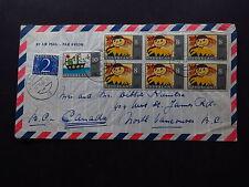 Cover Netherlands Nederland Air Mail Haren 6-Block Kinderpostzegels 1966 Canada