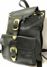 Auth Gianni Versace Back Pack Handbag Purse Shoulder bag Black Leather