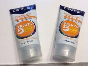 Clearasil Stubborn Acne Control 5in1 Weekly Scrub Salicylic Acid 5oz Face Wash 2