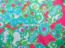 Lilly Pulitzer A Delicacy Dress Cotton Poplin Fabric  BTY x 57""