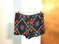 Ecote Aztec Print Shorts Womens Size 12