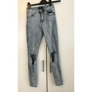 Missguided Light Blue Ripped Jeans. Size 8. Worn A Couple Times.