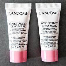 LOT/2 LANCOME Rose Sorbet Cryo-Mask | Travel Size .16oz/5ml Each | Authentic