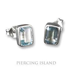 Blautopas Ohrringe Stecker Ohrstecker ECHT Silber Design Schmuck SER215