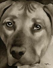 Rhodesian Ridgeback note cards by watercolor artist Dj Rogers