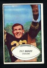 PAT BRADY steelers  ROOKIE 1953 BOWMAN #10  VG-EXCELLENT      NO CREASES