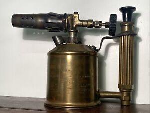 Vintage 'ORIGINAL SIEVERT' Swedish Brass 0.4 Litre Blow Torch/Lamp- Prop, Decor