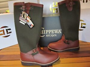 Chippewa Descaro Snake Boot Buckle VIPER CLOTH Leather 10 23913 Hunting Fishing