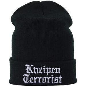 Mütze/Beanie/Haube: Kneipen Terrorist Damen/Herren Onesize Winter