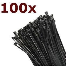 Kabelbinder Set Schwarz Industriequalität 160 98 200 300 370mm x 2,5 2,6 3,6 mm