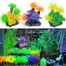 Underwater Ornament Silicone Coral Plants Aquarium Fish Tank Artificial Decor