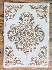Stencil Schablone Möbel Textilgestaltung  Vintage Shabby Chic Mandala  A 4 NEU