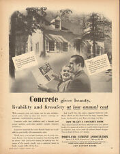 1946 vintage AD PORTLAND CEMENT Assoc. How to get a Concrete Home (010716)