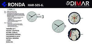 Movement Swiss RONDA Cal. 505/6. Powertech