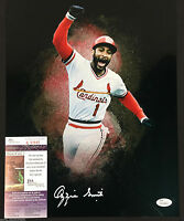 OZZIE SMITH SIGNED ST LOUIS CARDINALS 11X14 PHOTO PADRES WIZARD JSA WP PROOF J45