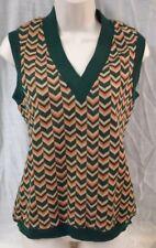 Vintage 1960s Vera Chevron Sweater Vest