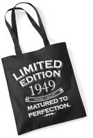 70th Birthday Gift Tote Shopping Bag Limited Edition 1949 Matured To Perfection