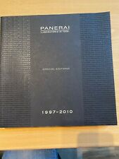 PANERAI SPECIAL EDITIONS 1997-2010 BOOK