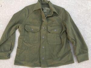 U.S. Army Shirt Field Wool Olive Green-108 M MEDIUM Korean War 1953 Mint USGI