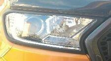 SALE MATTE BLACK HEAD LIGHT LAMP COVER TRIM FOR FORD RANGER T7 MK2 Y 15 16 17