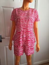 Coleen X Pink White Heart Prints Top And Shorts Co-ordinates Size UK10 EU38