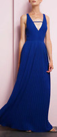 New With Tags Blue Adelyn Rae Pleated Maxi Dress